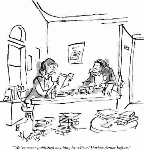 Cartoon from New Yorker Pear Harbor Denier