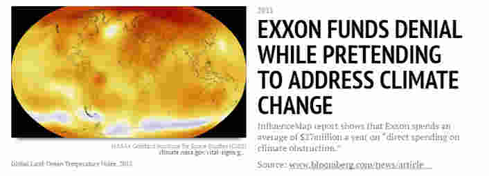 Exxon funds denial